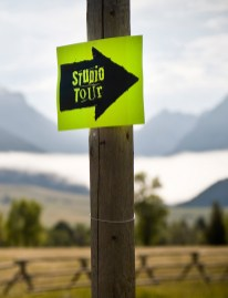Signs point the way to the studio of photographer Audrey Hall on Jumping Rainbow Road in Paradise Valley.