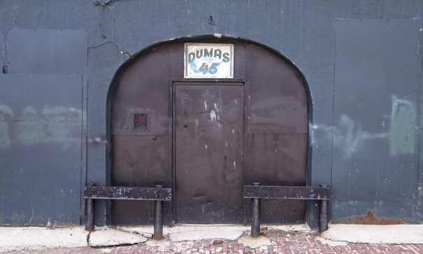 The alley door to the former Dumas Brothel is the last vestige of Butte's once-thriving red light district; it operated as a brothel from 1890 to 1982.