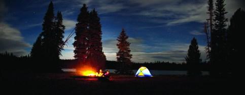 Camping alongside O'Dell Lake.