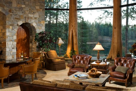 Framing the Spokane River, Edgewood's Glass Forest® feature inspired the owners to build their dream home in Coeur d'Alene, Idaho.