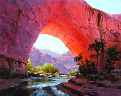 """Jacob Hamblin Arch""   Oil on Linen   16"" x 20"""