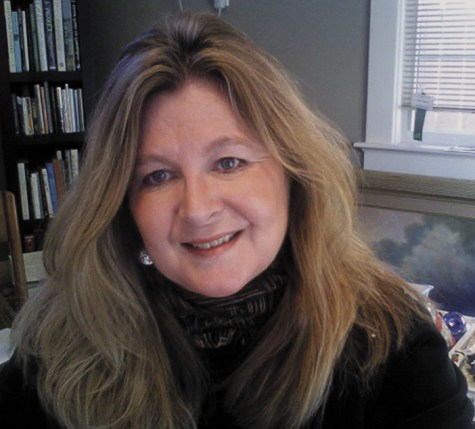 Artist Janie Camp in her studio.