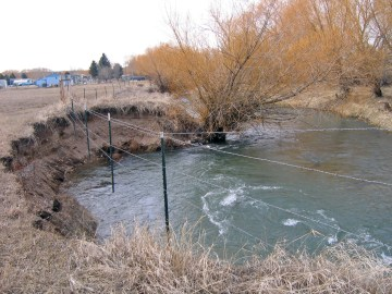 Erosion on the Machler section of Big Spring Creek will be undergoing restoration, thanks to the success of the Brewery Flats restoration and the support of the community. Photo courtesy of Montana Fish, Wildlife and Parks