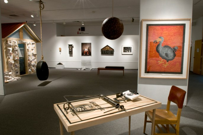 "Installation view of ""Speaking Volumes: Transforming Hate"" exhibition at the Holter Museum of Art in Helena, Mont. Photo by Kurt Keller"