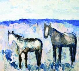 """""""Stillwater Horses #3""""   Oil   54"""" x 60"""""""