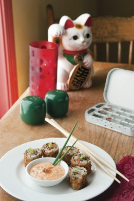 Cowboy Sushi is a signature dish in the restaurant at The Old Hotel.