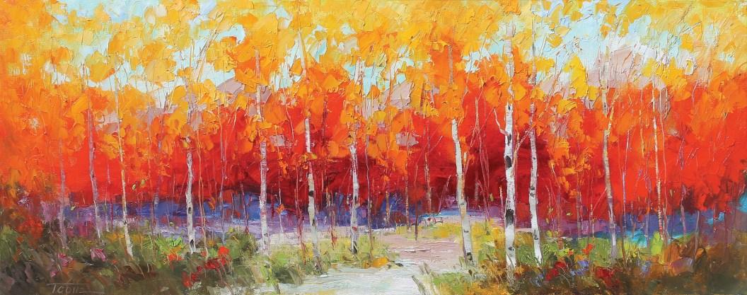 """""""Graceful Passages""""   Oil on Canvas   16"""" x 40"""""""