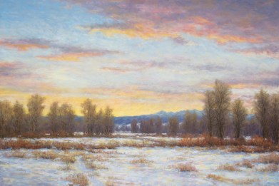 "Winter in the Gallatin Valley Pastel | 24"" x 36"""