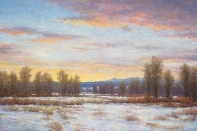 "Winter in the Gallatin Valley Pastel | 24"" x 36"""