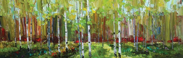 """""""The Light of Spring""""   Oil on Canvas   16"""" x 48"""""""