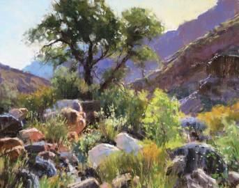 """Bright Angel Boulders"" | pastel | 11"" x 14"""