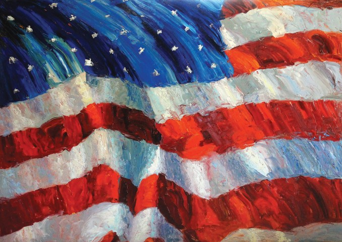 """""""Old Glory's Honor""""   Oil on Canvas   60"""" x 84"""""""