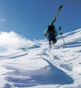 The hike to the Headwaters and A-Z areas offers access to dozens of steep chutes.   Photo by Ryan Day Thompson