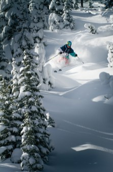 The numerous gladed areas on Big Sky's Andesite Mountain offer powder-filled pockets that many locals seek out after a big storm. The resort added four new tree runs for this winter.   Photo by Ryan Day Thompson