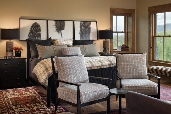 The Gorums point to the guest room as an excellent example of the balance accomplished by the designers from Kibler & Kirch who were charged with the task of blending traditional with conventional design elements to create functional, beautiful spaces.