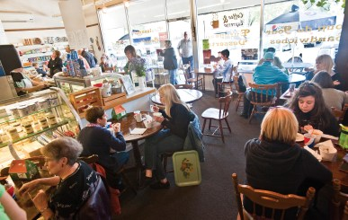The lunch crowd packs the place from wall to wall, and the line at the front counter stretches out the door at regular intervals during the noon hour.