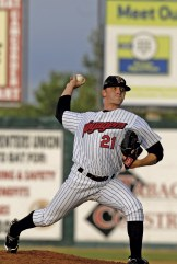 Great Falls' pitcher Dan Hudson went from the 2008 college June draft to his Major League debut with the Chicago White Sox in 2009 Photo by Denny Wright