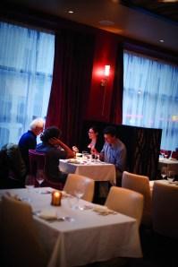 Customers enjoy cosmopolitan cuisine at TEN.