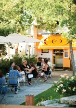 In the warmer months, the aromas of the kitchen waft over the diners who enjoy the patio.