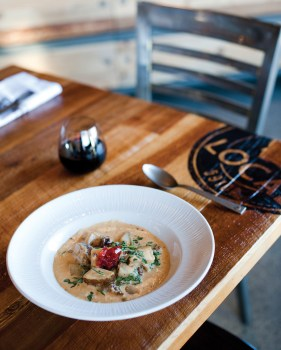 The bison hash is a prime example of Local Kitchen's comfort food with a sophisticated twist.