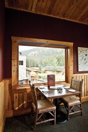 A view of the legendary Gallatin River provides a backdrop to a meal at the Rainbow Ranch Lodge.