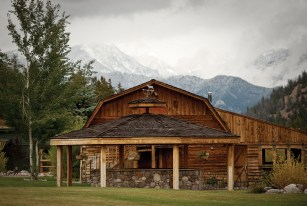 The snowcapped Spanish Peaks are the backdrop for events set on the front lawn.