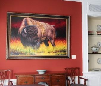 """Spirit of the Bison"" | Oil on Canvas | 48"" x 72"" | Harry Koyama"