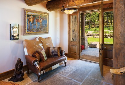The Fuller home entryway is warm and welcoming.