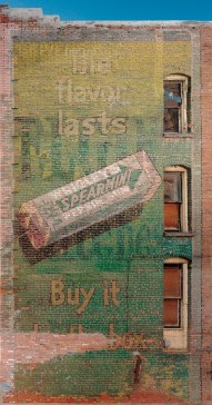 The Wrigley's Spearmint gum sign on Butte's East Park Street was likely painted between 1893 and 1913.