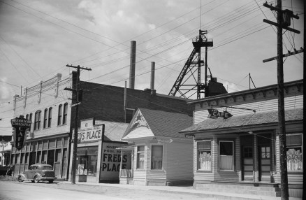 Main Street, Meaderville, Butte, 1939   Photo courtesy of Library of Congress