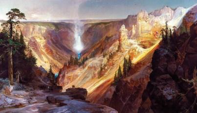 """Lower Falls of the Yellowstone"" Thomas Moran | 84"" x 144"" | 1872"