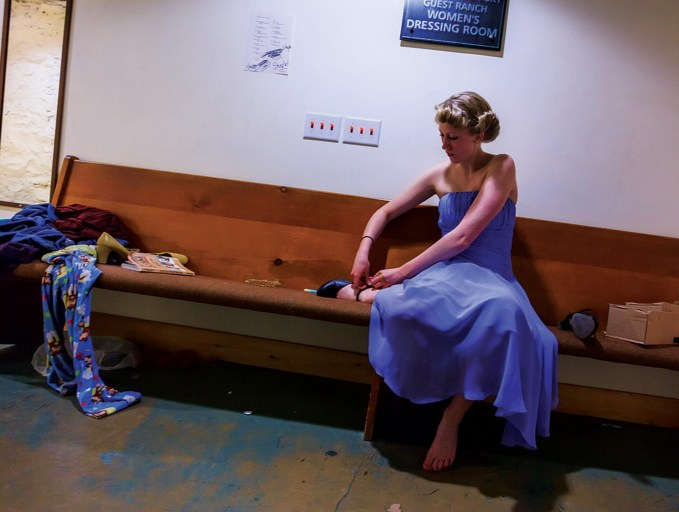 """An actress readies for the community production of """"West Side Story."""""""