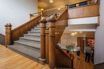 The original staircase from when the arts center was the East Side School.