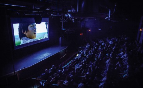 """The Dulcie Theater hosts a showing of Montana-made, """"Winter in the Blood."""" With 165 seats, it is the largest auditorium in Livingston."""