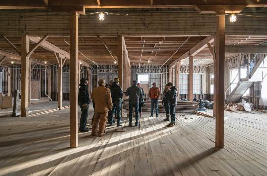 From the beginning, the pea cannery building was an open shell. As the firm moves into a new era, Miller Architects had the opportunity to create a vision that would speak to their new dynamic.