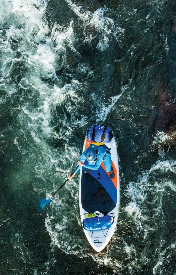 The Blackfoot's whitewater is a perfect challenge for paddleboarders willing to get a little wet.