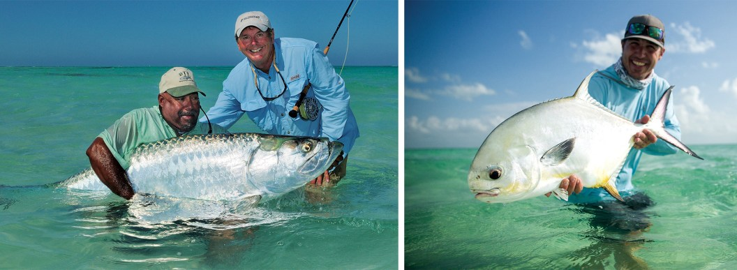 Hug that tarpon! Barry Beck and guide By Cathy Beck   Permit grip and grin — How big was your smile holding your first permit? By Brett Seng