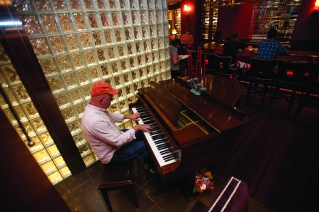 Live piano is a feature in the bar at TEN each week.