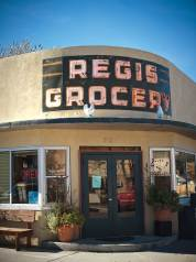 In winter, Café Regis offers the ultimate pre-ski meals from the funky and fun renovated grocery store just off Broadway.