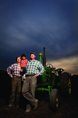 "Farmers Caroline and Mark Rehder (pictured with their son Zac) teamed up with fellow producer Dean Williamson to create Root Cellar Foods, a produce processing plant that will deliver ""recipe-ready"" foods to local restaurants."