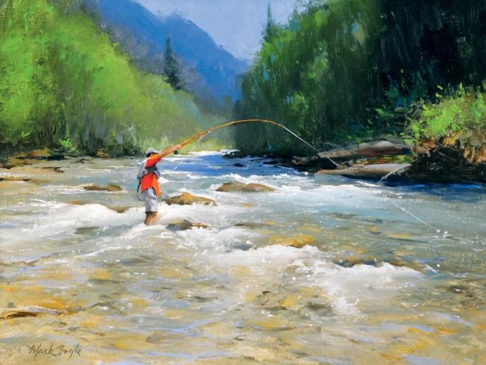"Fish On! Mark Boyle | oil | 18"" x 24"""