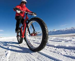 Fat bike through the Grand Tetons