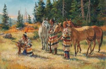 """""""First Sighting""""   Sharon Standridge   Oil on Linen   24"""" x 36"""""""