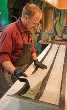 Igneous owner Michael Parris builds custom skies from his Jackson Hole-based workshop.