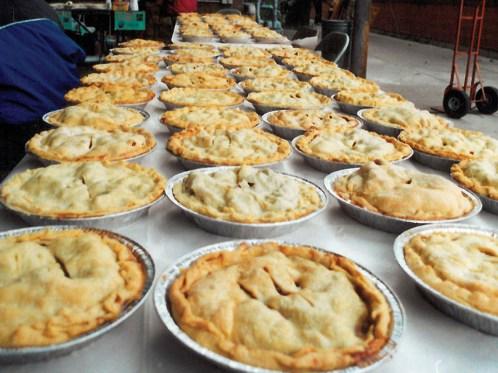 Find fresh apple pie by the dozens at McIntosh Apple Day.