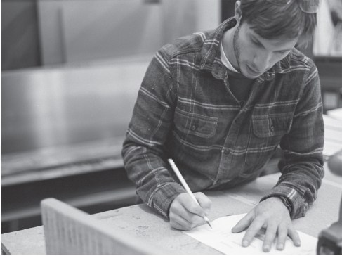Seneca founder Eric Neuman sketches and then builds new boards.