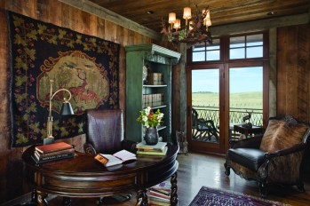 The Butzer study, perched above the main room, affords views in all directions.