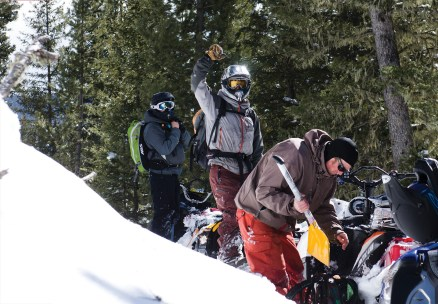 Riders work together to keep on keeping on through deep snow, advanced terrain and difficult route finding conditions.