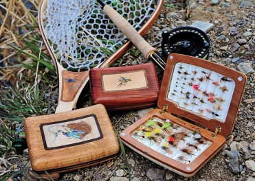 A.L. Swanson's fine, handcrafted fly boxes are made in his studio in Helena, Montana. Swanson, a Shaker-style furniture maker by trade, recently started making wooden fishing products for fly-fishing retailer Orvis.