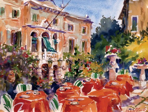 """Patio at the Accademia in Venice"" 